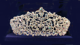 "2 1/2"" Tall Silver or Gold AB Crystal  Wedding and Quinceanera Tiara"