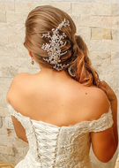 "10"" Silver Plated Crystal and Rhinestone Wedding Hair Comb"