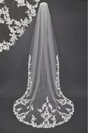 Lace Applique Cathedral Wedding Veil V838805