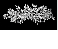 "8"" Long Marquise Rhinestone  Spray Bridal Comb"