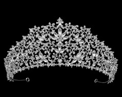 "2 1/2"" Rhinestone Wedding and Quinceanera Tiara - Silver or Rose Gold"
