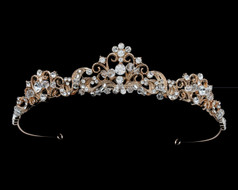 Vintage Elegance Wedding Tiara - Silver or Rose Gold