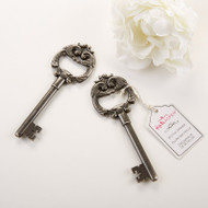"96 ""Key to My Heart"" Antique Silver Bottle Opener Wedding Favors"