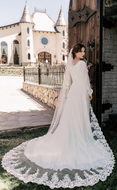 Royal Cathedral Wedding Veil with Partial Lace enVogue V2099RC
