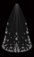 Cathedral Wedding Veil with Beaded Lace Apppliques enVogue V2095C