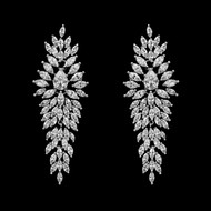 Teardrop and Marquise CZ Wedding and Formal Earrings