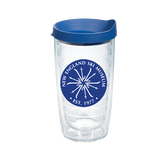 Tervis Tumbler with Exclusive NESM patch, blue lid