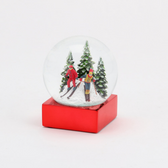 Skier Couple Snow Globe