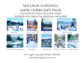 Note Cards Gift Pack by William Mitchell- Winter Scenes