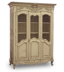 Shabby Chic Wire Showcase, French Antique Cream