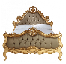 Baroque Bed Set, Gold 3 Piece
