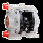 "ARO PD01P-HPS-PGG-A 1/4"" Non Metallic Compact Diaphragm Pump Nitrile | 5.3 GPM"