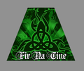 Irish Reflective Tetrahedron Sticker Fir Na Tine