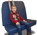 BR-33SJI-C, Universal Besi Medium Vest WITH Crotch Strap (With Safe Journey Seat Mount) (COLOR: BURGUNDY)