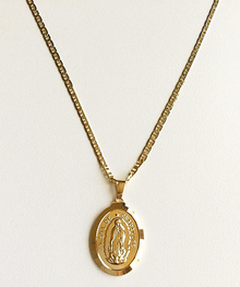 Gold Guadalupe Necklace (18K Gold Filled)