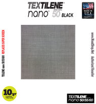 Textilene® nano™ 50 Black 17 x 14 x 100'