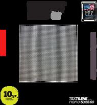 Textilene® nano™ 60 Black 17 x 20 x 100'