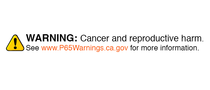 P65 WARNINGS