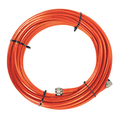 SC-PL-75 | SureCall 75 Feet SC-400 Ultra Low Loss Coax Plenum-Rated Cable with N-Male Connectors - Orange