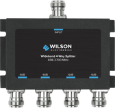 Wilson Electronics 859981: 4 Way Splitter, 50 Ohm with N Female Connectors. -6 dB, 700-2700 MHz