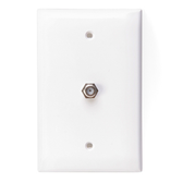 40539-MW | Levtion: Midsize Video Wall Jack, F connector, White