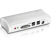 TK-204UK | TRENDnet: 2-Port DVI/USB KVM Switch Kit w/ Audio (Includes 2x KVM cables)