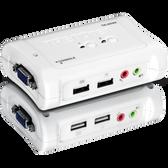 TK-209K   TRENDnet: 2-port USB KVM Switch Kit w/Audio (include 2 x KVM Cables)