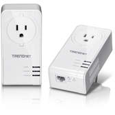 TPL-423E2K | TRENDnet: Powerline 1300 AV2 Adapter Kit  with Built-in Outlet