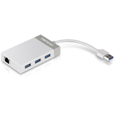 TU3-ETGH3 | TRENDnet: USB 3.0 to Gigabit Ethernet Adapter + USB Hub