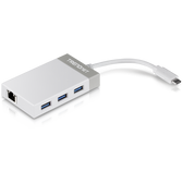 TUC-ETGH3 | TRENDnet: USB-C to Gigabit Ethernet Adapter + USB Hub