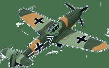 BF-109 Messerschmitt Luftwaffe Maj. Hannes Trautloft