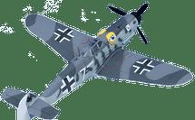 """BF-109G Messerschmitt Luftwaffe """"Gustav"""" 6 JG 51"""