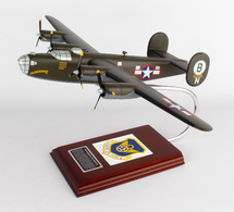 B-24D Liberator Olive 1/62 Hellsadropin II Mahogany Display Model