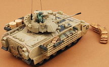 M2 Bradley US Army, #43, Baghdad, Iraq, Operation Iraqi Freedom, 2003, w/1 Figure