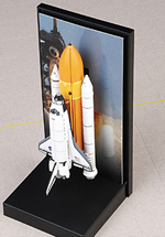 Space Shuttle Atlantis Rockwell Diecast Model NASA, OV-104, STS-71 Launch June 27th, 1995, Launch Configuration