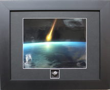 Meteorite, matted and framed to include authentic meteorite fragment by Century Concept