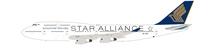 Singapore Airlines --Star Alliance  Boeing 747-412 9V-SPP