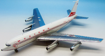 Western Airlines Boeing 720-062 N720W Polished with stand