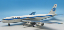 Pan Am Boeing 720-023B N785PA Polished with stand