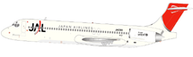 JAL MD-87 JA8280 w/Stand