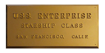 USS Enterprise (NCC-1701), Dedication Plaque