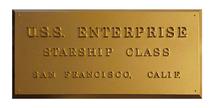 USS Enterprise (NCC-1701), Dedication Plaque