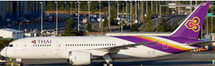 Thai Airways B787-8 HS-TQF w/Stand