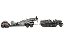 Sd.Kfz.9 Half-Track German Army, w/Fw 190 Fuselage on Trailer