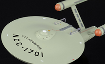 Constitution-class Heavy Cruiser Starfleet, USS Enterprise, w/Magazine Eaglemoss Collections