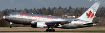 Air Canada B767-200 (Polished) C-GDSP w/Stand