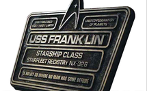 USS Franklin, Dedication Plaque