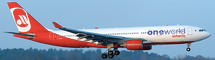 Air Berlin A330-200 (One World Livery) D-ABXA w/Stand