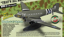 "C-47 Skytrain ""That`s All Brother"", WWII D-Day Invasion"