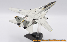 F-14A Tomcat Diecast Model USN VF-142 Ghostriders, AG200, USS Dwight D. Eisenhower, (Clean Finish No Ink on Panel Lines)
